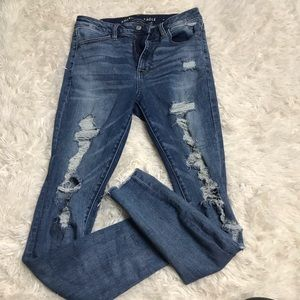 American eagle super high rise jeans